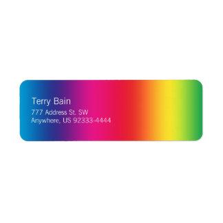 Rainbow Gradient Return Address Label