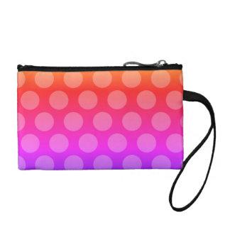 rainbow gradient polka dots pattern coin purse