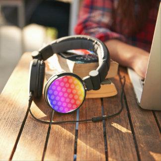 rainbow gradient polka dots pattern headphones