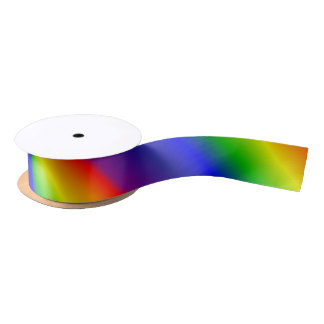 Rainbow Gradient Satin Ribbon
