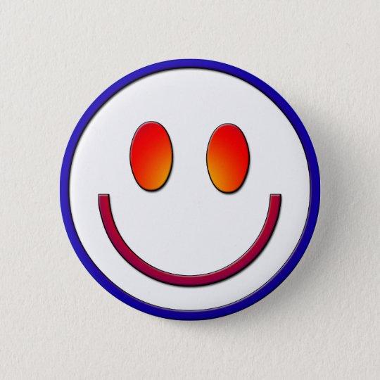 Rainbow Gradient Smiley Face 6 Cm Round Badge