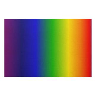 Rainbow Gradient Vertical Wood Wall Decor