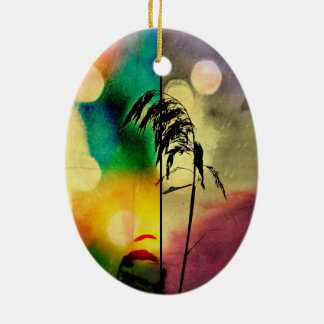 Rainbow Grass Drama Ornament