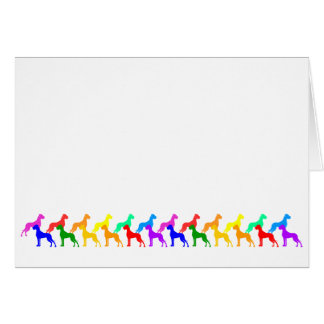 Rainbow Great Danes Card