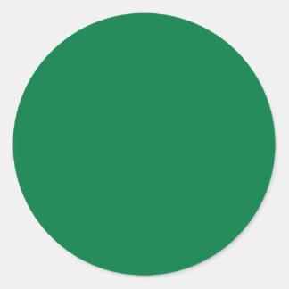Rainbow Green Classic Round Sticker