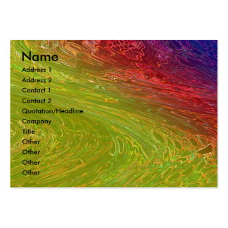 Rainbow Green Waves Pack Of Chubby Business Cards