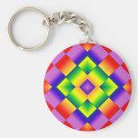 Rainbow Grid Keychain
