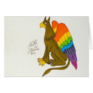 Rainbow Griffin Card