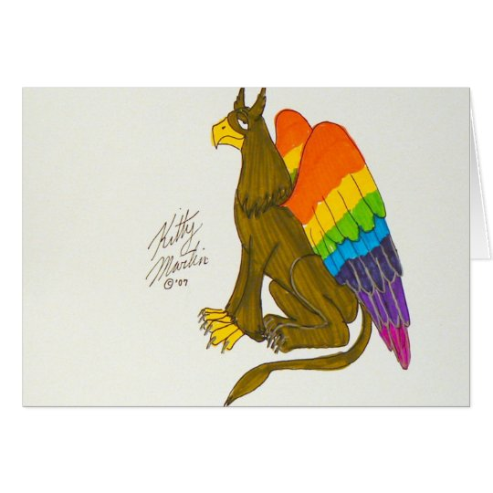 Rainbow Griffin Card