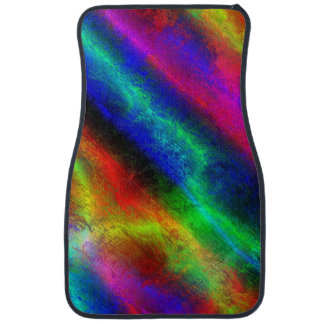 Rainbow Grunge Abstract Car Mat