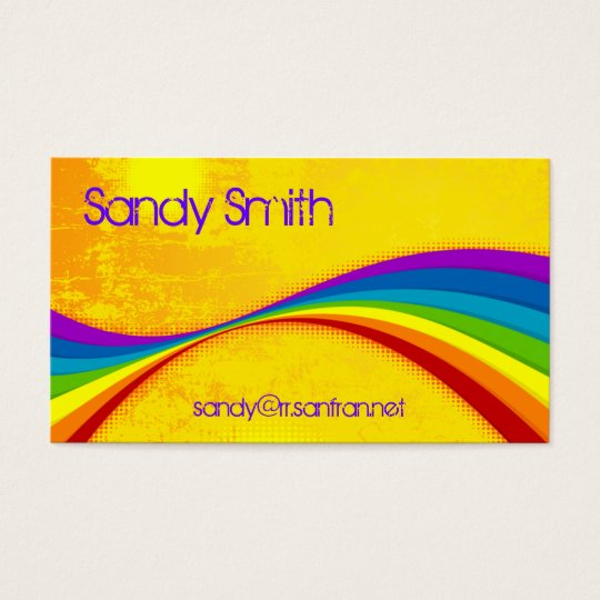 Rainbow Grunge Business Card