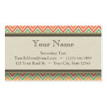 Rainbow Grunge Zigzag Chevrons Pack Of Standard Business Cards