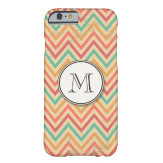 Rainbow Grunge Zigzag Chevrons Barely There iPhone 6 Case