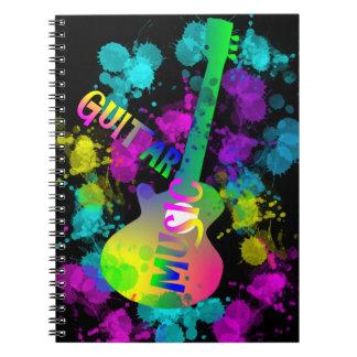 Rainbow Guitar Music Themed Notebook