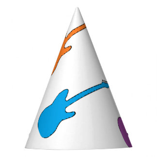Rainbow Guitar Party Hats