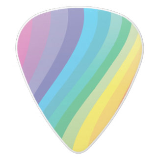 Rainbow Guitar Pick White Delrin Guitar Pick