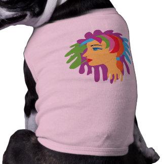 Rainbow Hair Dog T-shirt