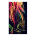 Rainbow Hair Stylist Profile Cards Pack Of Standard Business Cards