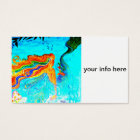 rainbow haired mermaid business card