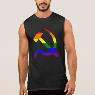 Rainbow Hammer And Sickle Sleeveless Shirt