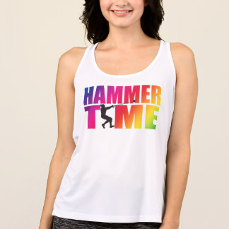 Rainbow Hammer Time! Womens Hammer Throw Shirt