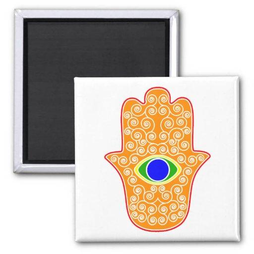 Rainbow Hamsa-Hand of Miriam-Hand of Fatima.png Magnet