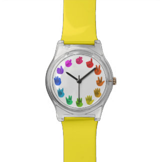 Rainbow hands asl numbers watch