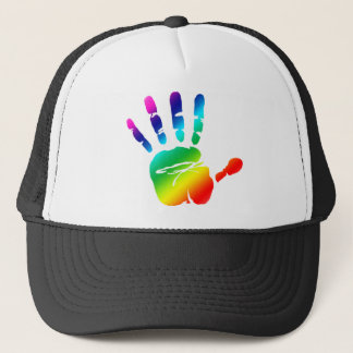 Rainbow hands trucker hat