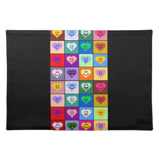Rainbow Happy Hearts Placemat