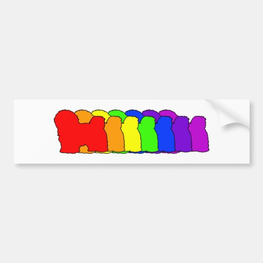 Rainbow Havanese Bumper Sticker