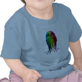 Rainbow head house music party shirts