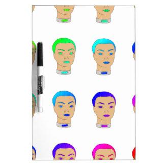 rainbow heads Dry-Erase board
