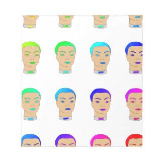 rainbow heads memo note pads