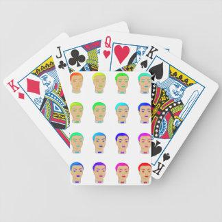 rainbow heads poker cards
