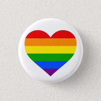 """RAINBOW HEART"" 1.25-inch 3 Cm Round Badge"