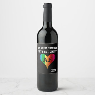 Rainbow Heart AF Wine Label
