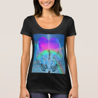 Rainbow Heart and Angel WIngs T-Shirt
