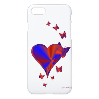 Rainbow heart and Butterfly iPhone 7 Case