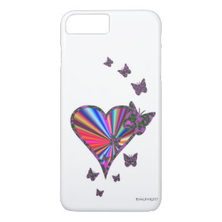 Rainbow Heart and Butterfly iPhone 7 Plus Case
