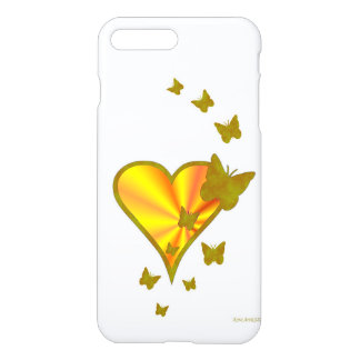 Rainbow-heart and Butterfly iPhone 7 Plus Case