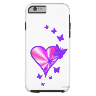 Rainbow Heart and Butterfly Tough iPhone 6 Case