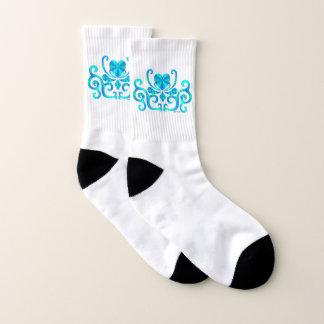 Rainbow Heart and Lily Socks