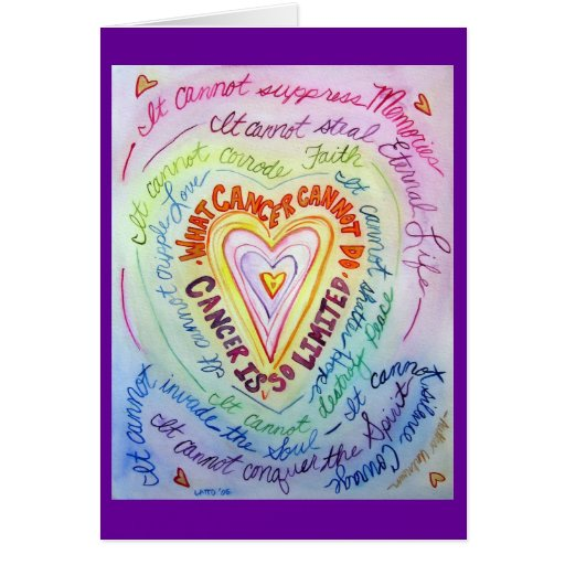 Rainbow Heart Cancer Cannot Do Greeting Cards