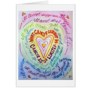 For cancer patients cards invitations zazzle rainbow heart cancer cannot do greeting cards m4hsunfo