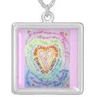 Rainbow Heart Cancer Cannot Do Necklace Jewellery