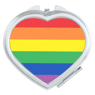 Rainbow Heart Compact Mirror