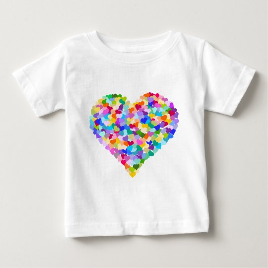 Rainbow Heart Confetti Baby T-Shirt