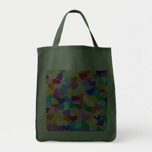 Rainbow Heart Confetti Canvas Bags