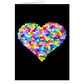 Rainbow Heart Confetti Card