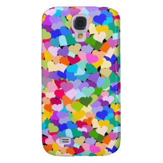 Rainbow Heart Confetti Galaxy S4 Case